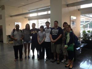 Group at airport